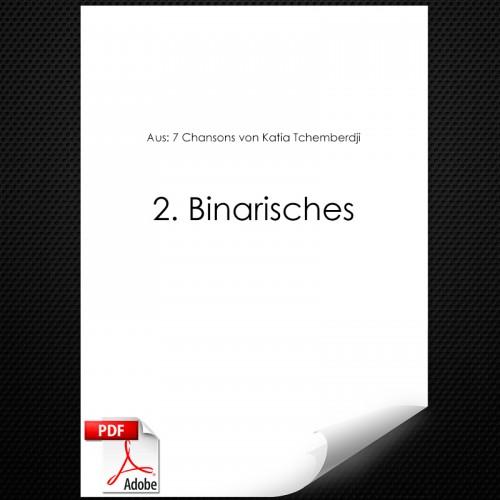 Aus: 7 Chansons von Katia Tchemberdji
