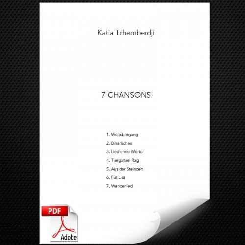 Chansons-Titelseite